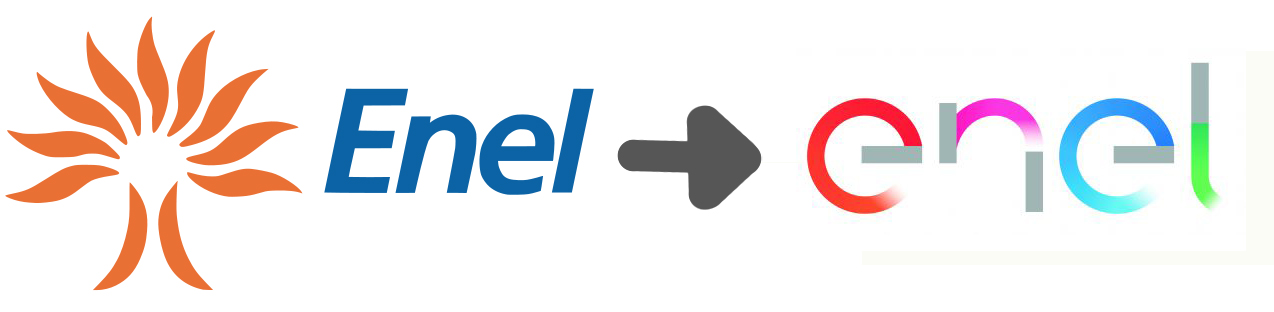 marchio ENEL prima e dopo